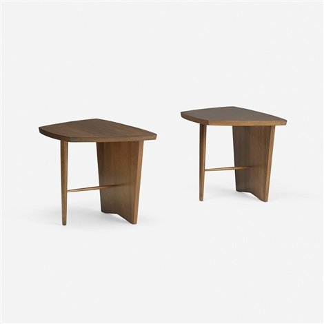 origins occasional tables model 282 pair by george nakashima