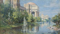 palace of fine arts and reflecting pool, panama pacific international exposition, san francisco by colin campbell cooper
