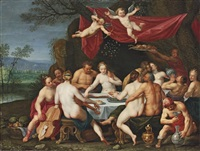 the wedding feast of bacchus and ariadne by marten pepyn