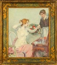femme à sa toilette by eugène benjamin selmy
