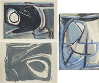 sans titre (set of 3) by bram van velde