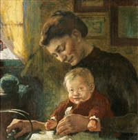 mother and child by arthur illies