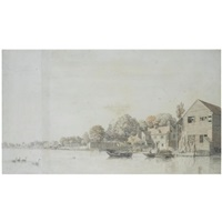a view of twickenham from the thames by samuel scott