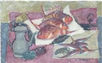 nature morte aux poissons by alexandre bobovski