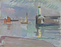 the mouth of the harbour by samuel john peploe