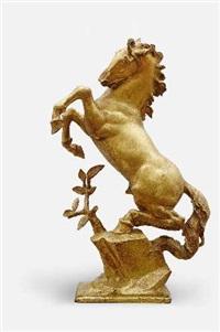 bäumendes pferd by josef wackerle