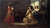 spanische flamenco-tänzerinnen by ludwig von langenmantel