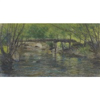 rustic bridge by george agnew reid