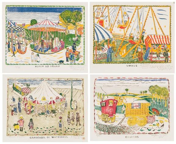 de carrousels et baraques 4 works by edgard tytgat