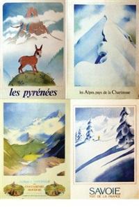 savoie toit naturel de la france, reserve naturelle contamines, les alpes pays de la chartreuse, les pyrénnées (4 works) by samivel