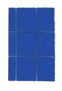 suite de six timbres bleus avec bordure by yves klein