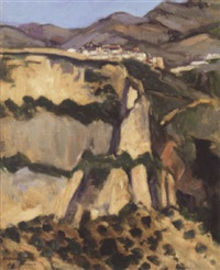 a hillside village in the ronda by william macdonald