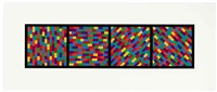 broken color bands in four directions (1 work) by sol lewitt