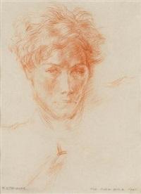 portrait of ronald stuart thomas by mildred eldridge