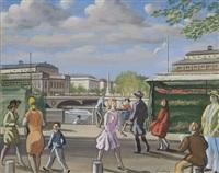 promenade sur les quais à paris by robert lepeltier