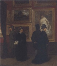 in the picture gallery by a. müller-schönhausen