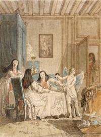 le repas des nonnes, servi par l'amour by jean démosthène dugourc