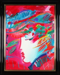 beauty & fauve (2 works) by peter max