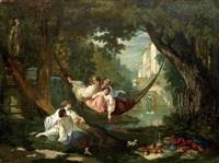 détente au jardin by auguste barthelemy glaize