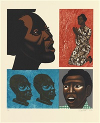 for my people (set of 6) by elizabeth catlett