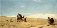 the valley of moses, in the desert of sinai by john rogers herbert