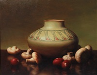 still life with mushrooms by al jackson