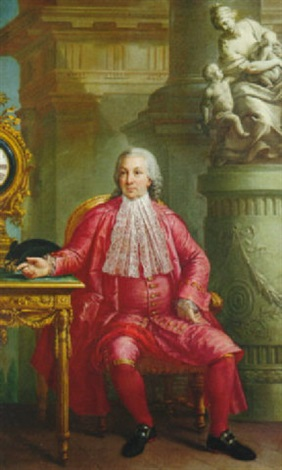 portrait of a gentleman by bernardino nocchi