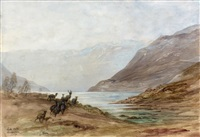 loch mike: aberdeenshire, avril 1873 by gustave doré