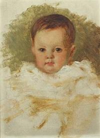 child's portrait (study) by karl friedrich johann von müller