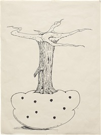 uprooted fruit tree (from monkey island) by mike kelley