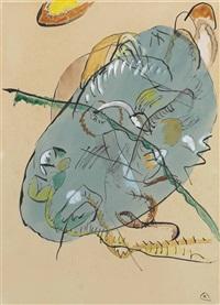 entwurf zu blauer fleck by wassily kandinsky