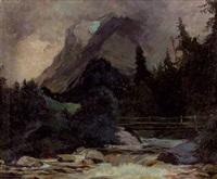 gewitterstimmung im hinterseetal bei berchtesgaden by rudolf heinrich kopecny