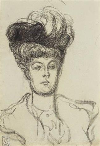 femme au chapeau by théophile alexandre steinlen