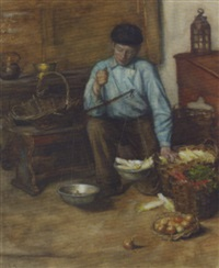 weighing vegetables by betsy repelius