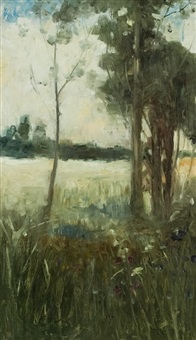 trees in a copse by sir david murray