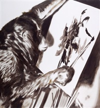 monkey thinks monkey paints by josef krispel