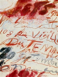 affiche yvon lambert by cy twombly