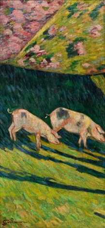 zwei schweine by armand guillaumin