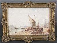 venetian watercolor by félix ziem