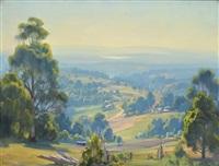 kallista, victoria, looking over silvan reservoir by ernest william buckmaster