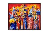 buscando ruido al saxofón i by jazzamoart