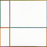doppelfarben (im kreuz 1: 2: 3: 4) by max bill