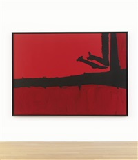 red, cut by black by robert motherwell