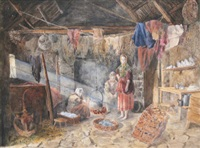 cottage interior, county mayo by frances livesay