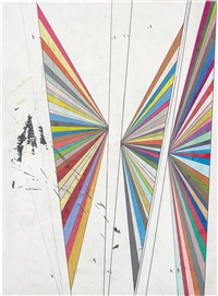 untitled (three butterfly wings) by mark grotjahn