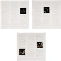 triptych, the second a peiron portfolio (4 works) by robert heinecken