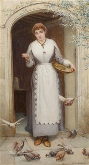 feeding the doves by william harris weatherhead