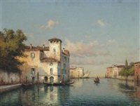 gondoliers on a venetian backwater by noel georges bouvard