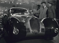 xxixe salon de l'automobile, hotchkiss roadster, grand sport, paris by andré steiner
