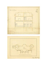 designs for a house at hanwell, middlesex...,designs for additions to buxted house... and a design for a proposed glebe house... (14 works) by robert mylne the younger